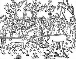 Из иллюстрации к книге Сон Полифила (издание 1499 г.)