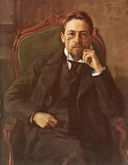 Портрет писателя А.П. Чехова (И.Э. Браз, 1898)