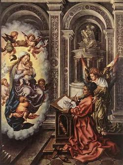 Святой Лука рисует Мадонну (Госсарт Мабюзе)