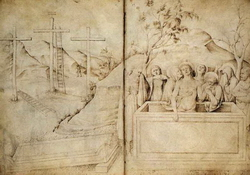Плач над телом господним (Якопо Беллини, рисунок)