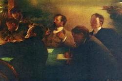 Группа московских художников (пастель) (Л.О. Пастернак)