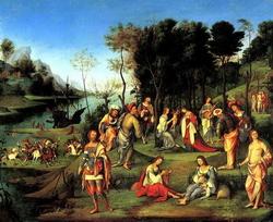 Аллегоричееское изображение двора Изабеллы д'Эсте (Лоренцо Коста)