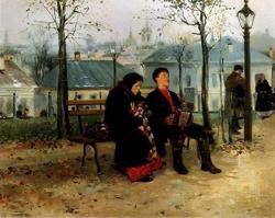 На бульваре (Маковский В.Е., 1886—1887)