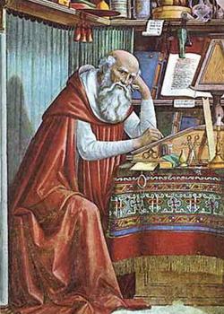 Святой Иероним в своей келье (Доменико Гирландайо)