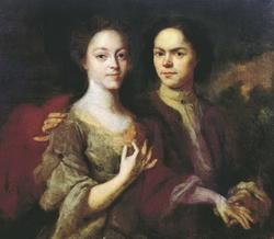 Автопортрет с женой (Матвеев А.М., 1729 г.)