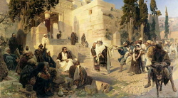 Христос и грешница (Поленов В.Д., 1887)