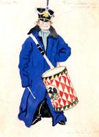 Барабанщик при кукольном театре. 1911 г.