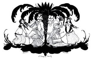 Обмен фаворитками. 1902 г.