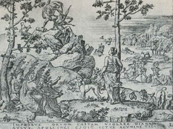 Апполон убивает Ориона (Этьен Делон)