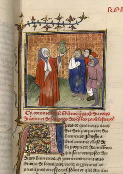 Миниатюра из Посланий св. Иеронима (Жан Бурдишон)