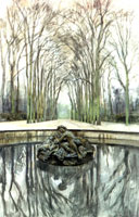 Версаль. Фонтан Бахуса зимой. 1905 г.