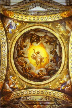 Плафон в San Giovanni Evangelista (Корреджо)