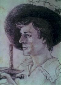 Портрет в гримерке (П. Никитин, графит)