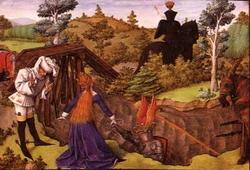 Иллюстрация из аллегорического романа (Бартелеми де Клерк (?))