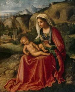Мадонна на фоне пейзажа (Джорджоне, 1505 г.)
