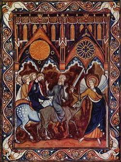 Валаамова ослица (ок. 1260 г.)