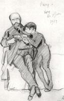 Автопортрет с сыном. 1914 г.