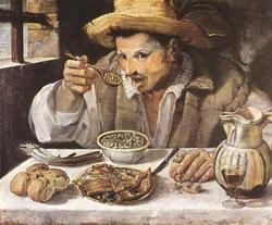 Обедающий крестьянин (Аннибале Караччи)