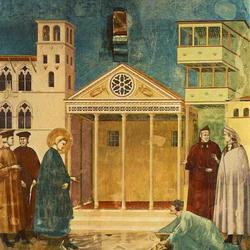 Св. Франциск на городской площади в Ассизи (Джотто)