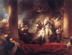 Самопожертвование первосвященника Кореза (Ж.О. Фрагонар)