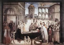 Погребение святого Бернардина (Пинтуриккио, 1492 г.).