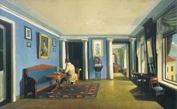 В комнатах. Гостиная с колоннами на антресолях (Зеленцов К.А., 1833 г.)
