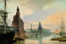 Набережная Невы у Академии художеств (Воробьев М.Н., 1835 г.)