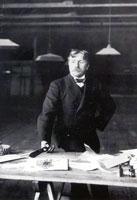 Ф.Я. Головин в своей мастерской. 26 января 1908 год.