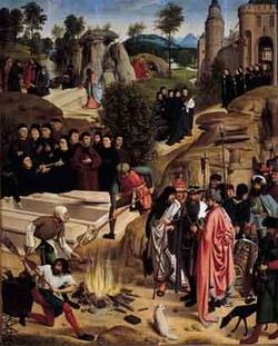 Сожжение останков Иоанна Крестителя