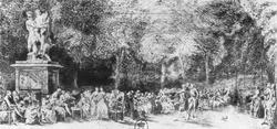 Гуляние в Тюильери (Габриэль де Сент-Обэн)