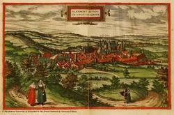 Раскрашенная гравюра из книги Civitates orbis terrarum (Б. Хогенберг)