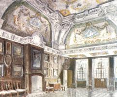 Петергоф. Монплезир. Средний зал. 1942 г.