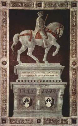 Памятник Джону Гоквуду в флорентийском Дуомо