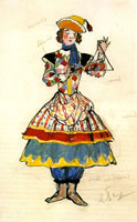 Уличная танцовщица. 1917 г.