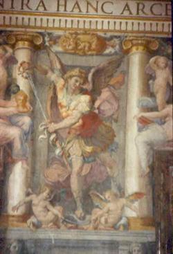 Одна из стен Залы Паолины в Замке св. Ангела