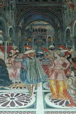 Папа вручает буллу (Доменико ди Бартоло)