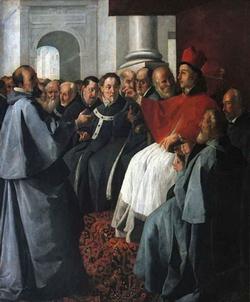 Святой Бонавентура на Лионском соборе (Сурбаран)