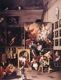 Мастерская художника в Риме (П. Сюблейра)