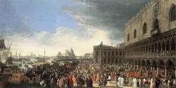 Прибытие французского посольства в Венецию (Л. Карлеварис)