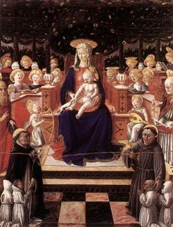 Мадонна с анелами и святыми (Джованни Бокатти)