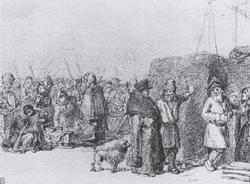 На Сенном рынке (А.Г. Венецианов, 1808-10 гг.)