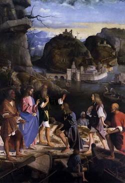 Пейзаж в картине Призвание апостолов