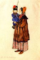 Нянюшка с ребенком. 1911 г.