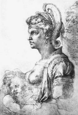 Аллегорическая фигура (Микеланджело Буанаротти)