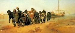 Бурлаки на волге (И.Е. Репин, 1870-73)
