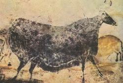 Гравированное на кости изображение мамонта, найденное в пещере La Madeleine во Франции