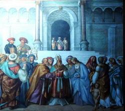 Фрески в кафедральном соборе в Кремоне (Джилорамо Романино)