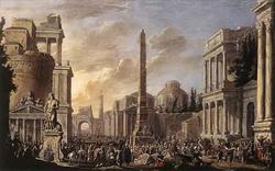 Античный форум с триумфальной процессией (Джакоб ван дер Ульфт)