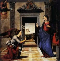 Благовещенье (Фра Бартоломео, 1497 г.)