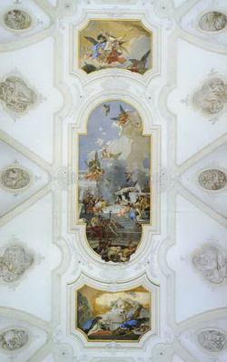 Потолочные фрески в церкви Santa Maria del Rosario